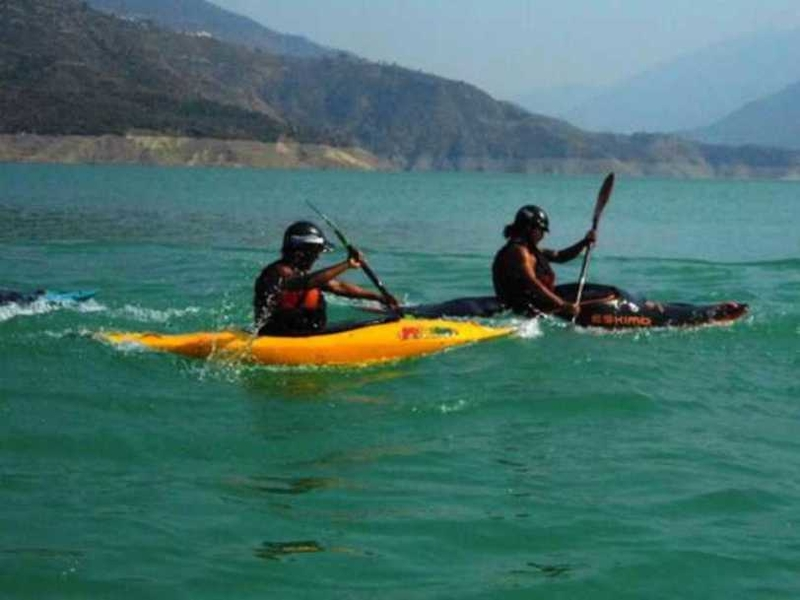 Kayaking in Tehri Lake