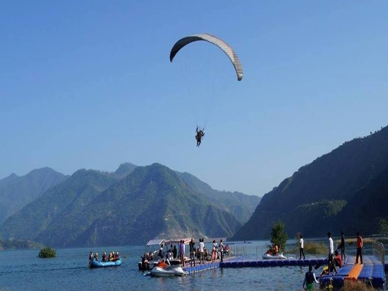 Zip Line in Tehri Dam